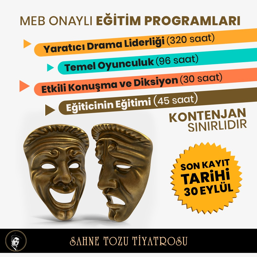 Sahnetozu.com İzmir Tiyatro Kursu - MEB Onaylı Tiyatro Kursu